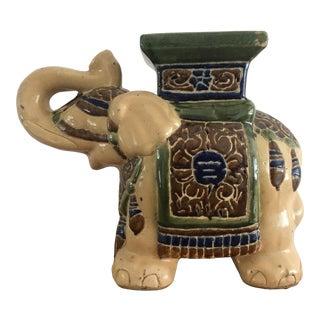 Vintage Boho Elephant Statue For Sale