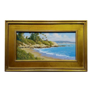 David Chapple -Panoramic View of Laguna Beach California -Oil Painting For Sale