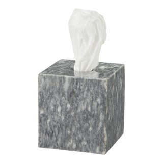 Gray Marble Tissue Box Holder