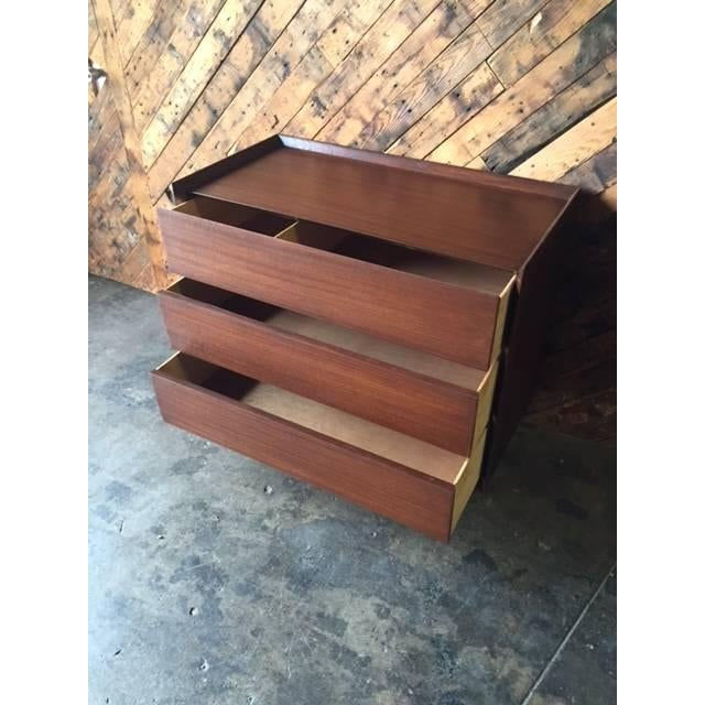 Contemporary Architectural Modern Refinished Walnut Dresser by Morris For Sale - Image 3 of 7