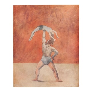 1948 Pablo Picasso, Original Period Acrobates Parisian Lithograph For Sale