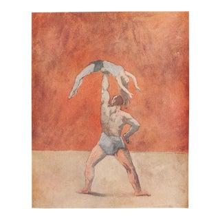 Original 1948 Picasso Acrobates Lithograph For Sale