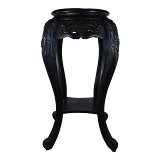 Asian Antique Japanese Black Plant Stand