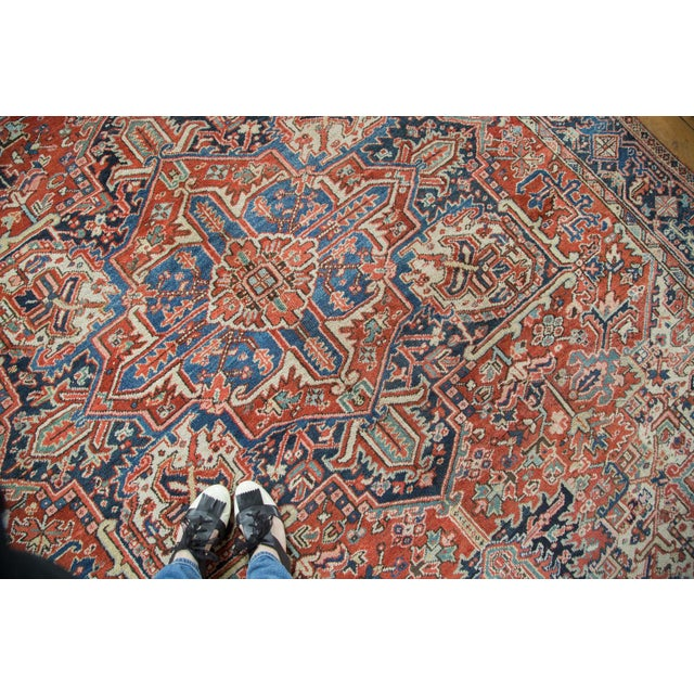 Vintage Heriz Carpet- 8′2″ × 11′ - Image 8 of 8