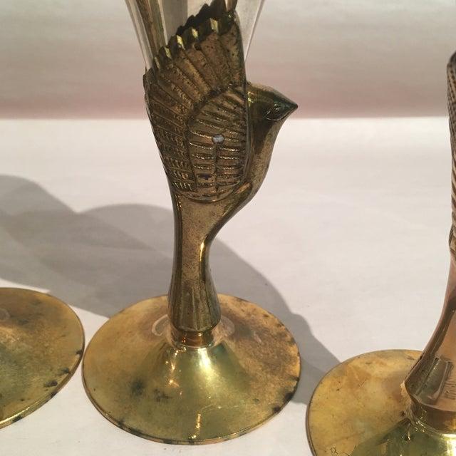 Godinger Silver Plated & Brass Bird Goblets - Set of 4 - Image 9 of 11
