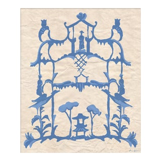 """Folly in Blue"" By Dana Gibson, Framed Art Print For Sale"