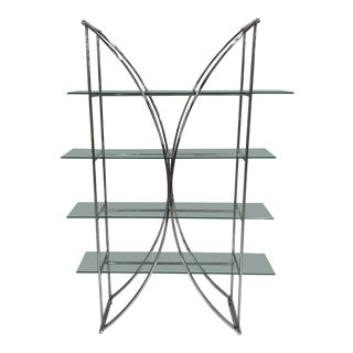 1960s Vintage Milo Baughman Style Chrome Etagere For Sale
