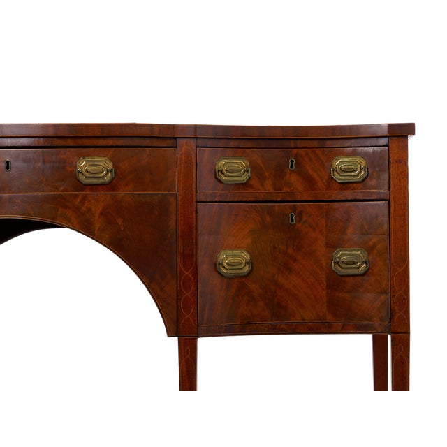 Circa 1780 English George III Period Antique Mahogany Sideboard For Sale - Image 6 of 11