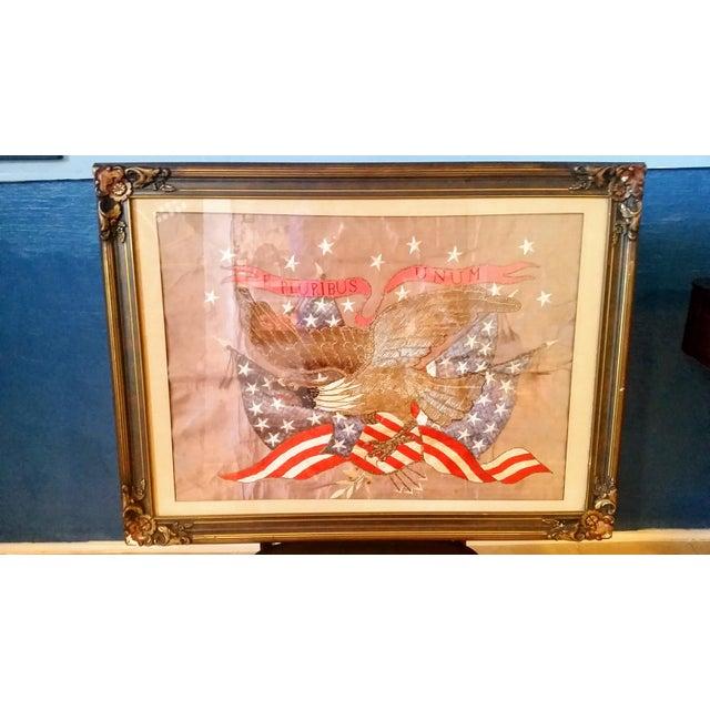 World War I Embroidered Souvenir American Eagle Flag - Image 2 of 8