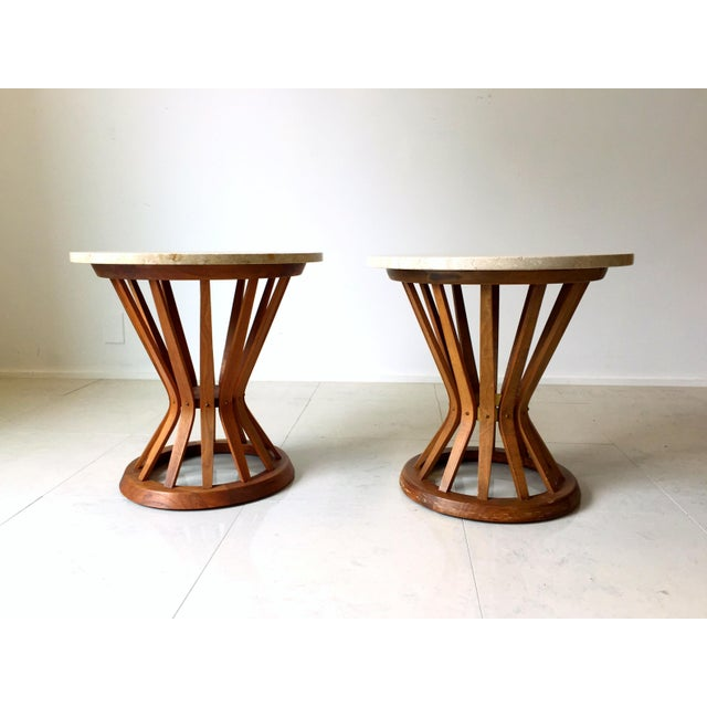 Edward Wormley for Dunbar Wheat Tables - Pair - Image 4 of 6