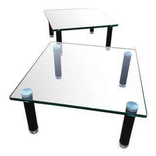 Modern Leon Rosen Tables for Pace - a Pair For Sale