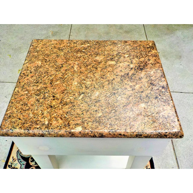 Food Preparation Work Table With Granite Top For Sale - Image 9 of 13