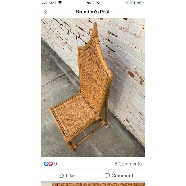 Turkish Vintage Architectural Turkish Rattan Chair For Sale - Image 3 of 6