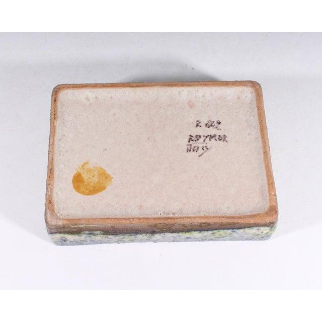 Blue Alvino Bagni for Raymor Italian Mid-Century Blue and Green Dresser Box For Sale - Image 8 of 9