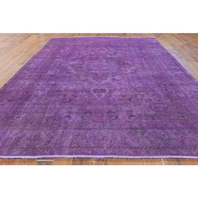 "Purple Overdyed Rug - 8'1 x 11'5"" - Image 2 of 6"