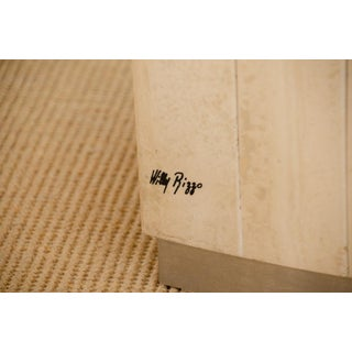 Willy Rizzo Signed Travertine Dining Table Preview