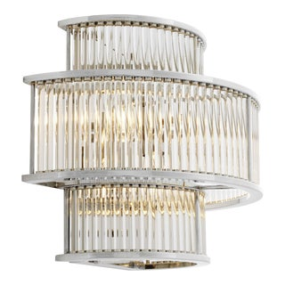 Silver Glass Wall Sconce | Eichholtz Mancini For Sale