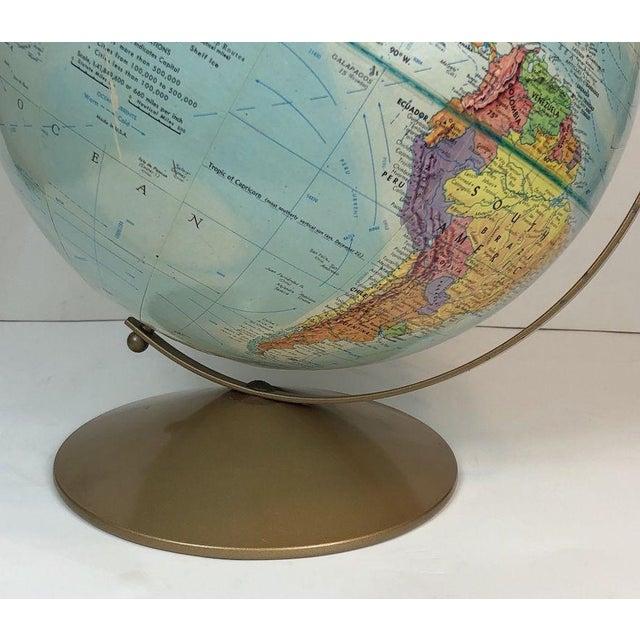 Cardboard Vintage Replogle World Nations Series Globe For Sale - Image 7 of 11