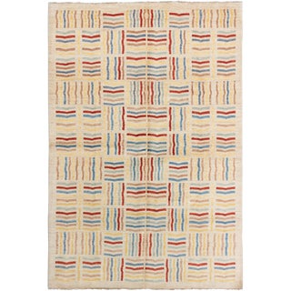 Hand-Knotted Rug- 6′6″ × 9′10″ For Sale