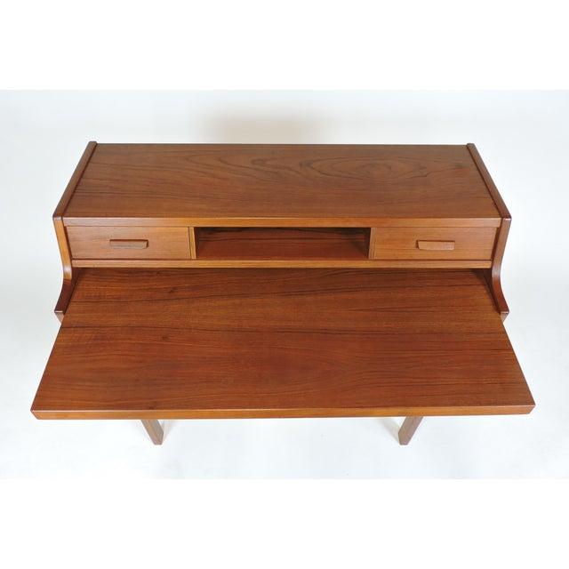 Brown Arne Wahl Iversen Danish Modern Teak Secretary Desk Model 70 For Sale - Image 8 of 12