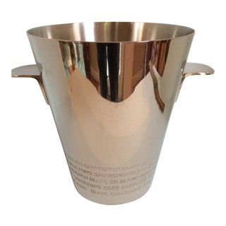 Chrome Plated White Wine Bottle Cooler and Champagne Ice Bucket For Sale