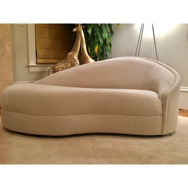 Modern White Suede Sofa Chaises - a Pair For Sale - Image 9 of 10