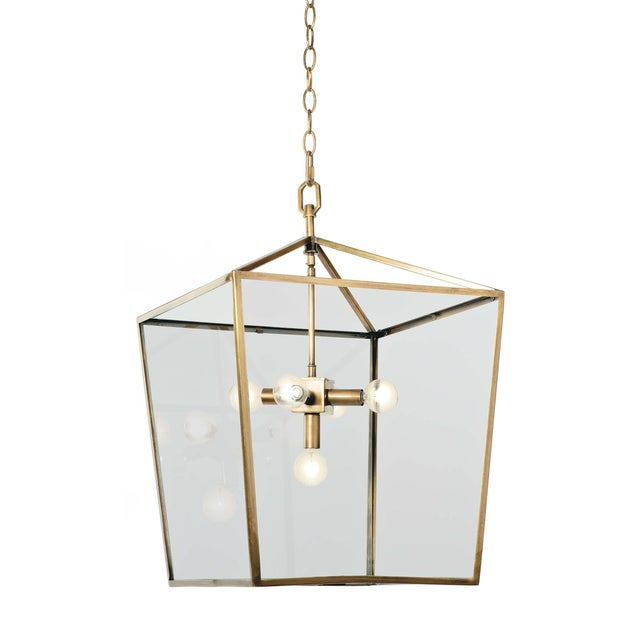 2020s Camden Lantern (Natural Brass) For Sale - Image 5 of 5