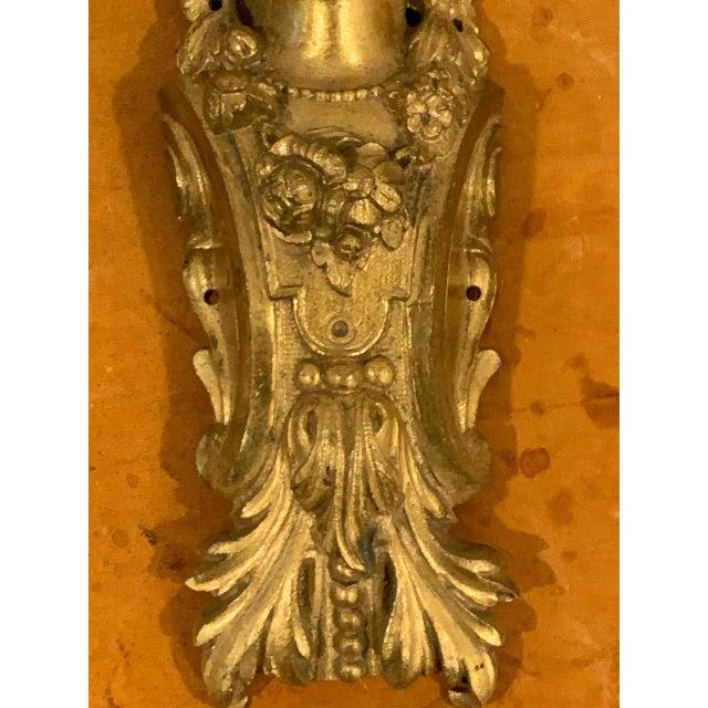 Bronze Napoleon III Gilt Bronze Female Medallion Furniture Mounts - a Pair For Sale - Image 8 of 10