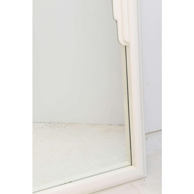 Summer Sale - Dorothy Draper Hollywood Regency Art Deco White Lacquer Mirror For Sale In West Palm - Image 6 of 11