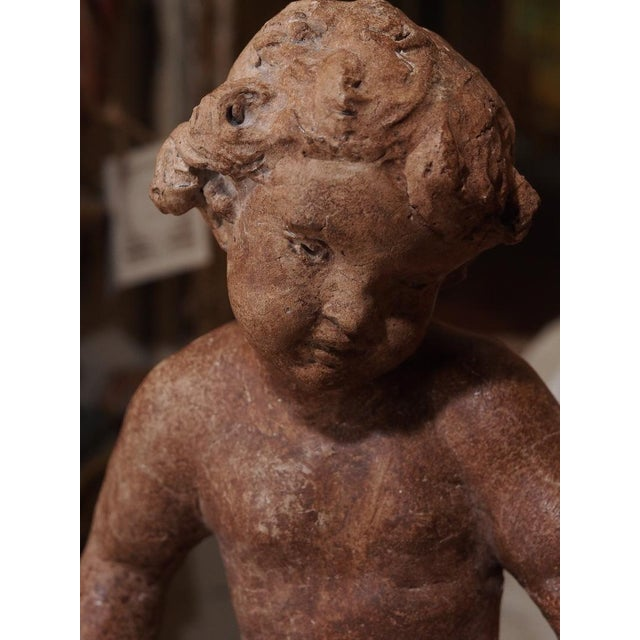 Mid 19th Century 19th Century French Cherub Sculpture For Sale - Image 5 of 7