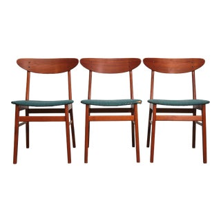 """The Smile"" Teak, Beech Dining Chairs by Farstrup - Set of 3 For Sale"