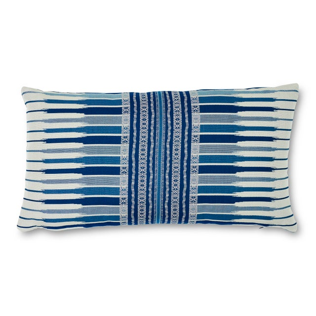 Schumacher Atchison Lumbar Pillow in Blue For Sale In New York - Image 6 of 6
