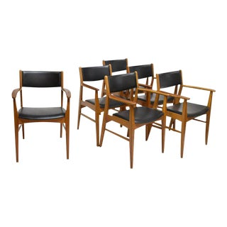 Danish Mid-Century Modern Open Armchairs - Set of 6 For Sale