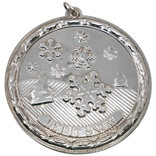 Wallace Sterling Silver Let It Snow Ornament For Sale