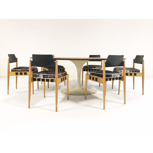 Vintage Eero Saarinen Tulip Table And Egon Eiermann Dining Chairs - Chairs for tulip table