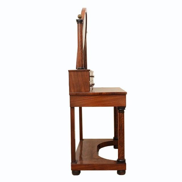 Biedermeier French Antique Empire to Biedermeier Transitional Dressing Table C. 1820 For Sale - Image 3 of 7