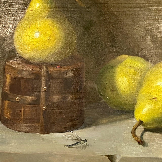 Contemporary Still Life With Pears Oil Painting by Beth DeLoiselle, Framed For Sale - Image 4 of 6