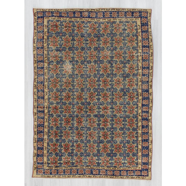 Vintage rug from Konya region of Turkey.In very good condition.Approximately 50-60 years old.