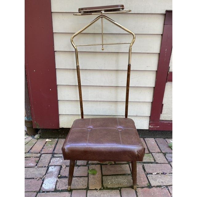 Mid Century Pearl-Wick Valet Stand For Sale In Chicago - Image 6 of 6