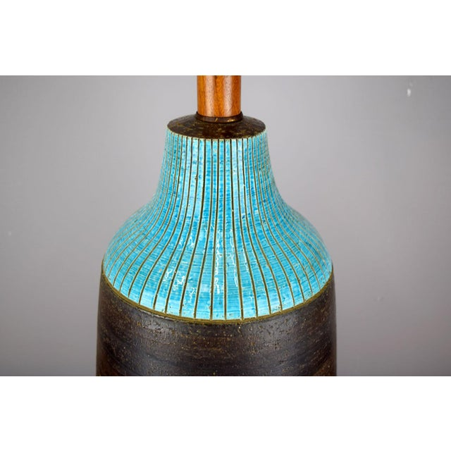 Mid-Century Modern Huge Aldo Londi for Bitossi Ceramic Table Lamp For Sale - Image 3 of 11