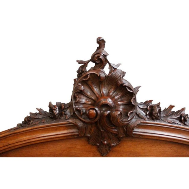 Antique French Rococo Louis XV Style Bed - Image 4 of 7