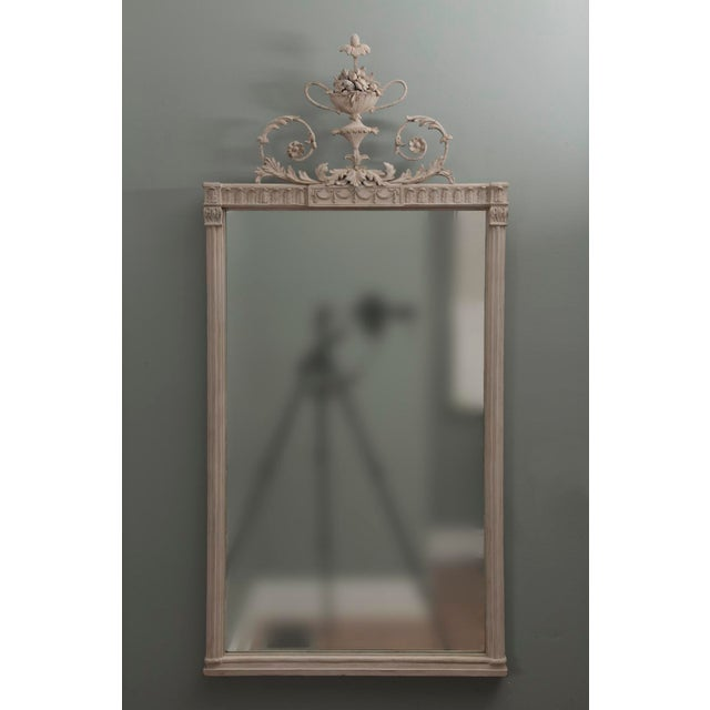 Antique English Neoclassical Scroll Motif Mirror For Sale - Image 9 of 10