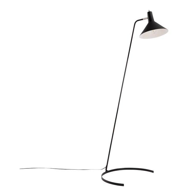 J.J.M. Hoogervorst Model #1505 'Horseshoe' Floor Lamp for Anvia in Black For Sale
