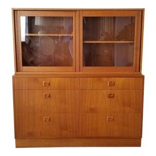 Mid-Century Danish Modern Teak Wood Bookcase / Cabinet . For Sale