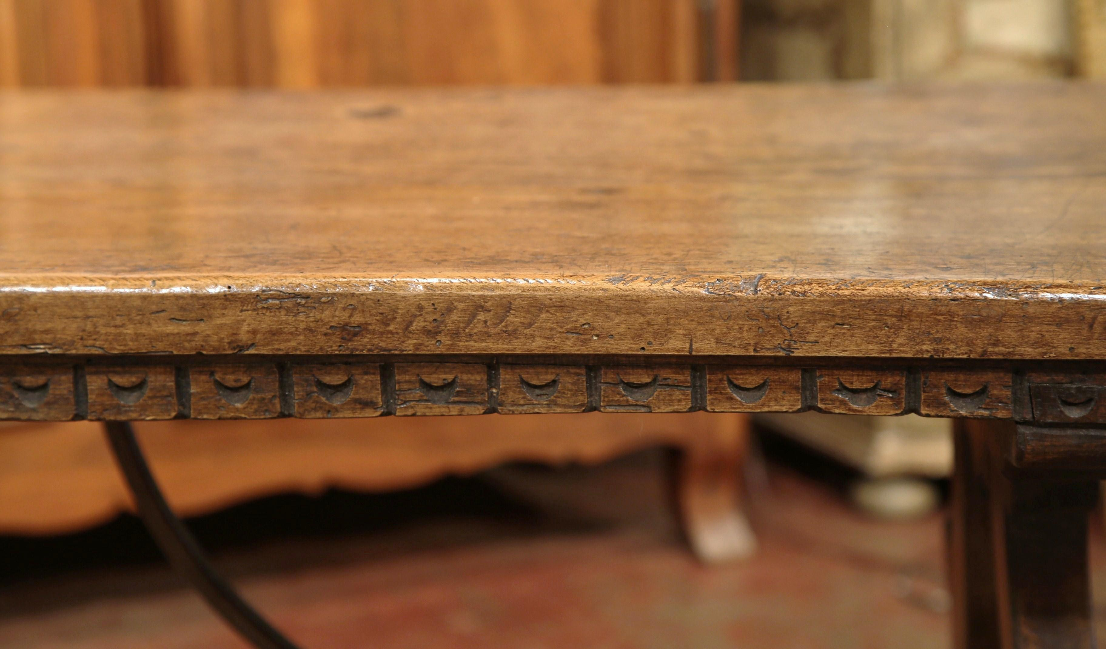 19th Century Spanish Carved Chestnut Table   Image 8 Of 11