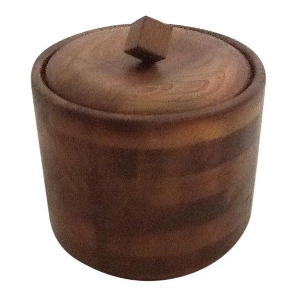 Mid-Century Wood Ice Bucket For Sale