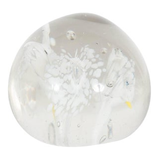 Handblown Wild Flower Art Glass Paperweight Attributed to Fratelli Toso