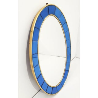 Vintage Mid Century Oval Mirror by Cristal Art Preview