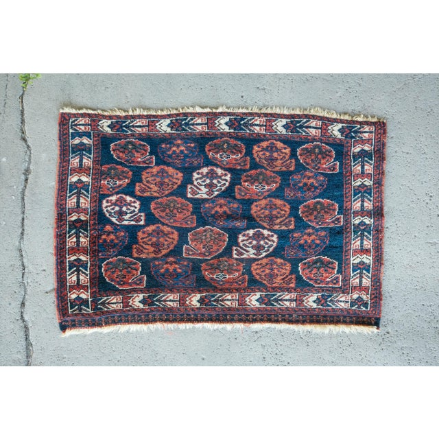 """Antique Perisan Mat Small Rug - 2'x3'2"""" - Image 2 of 5"""