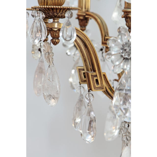 Louis XV Style Chandelier with Rock Crystals from Nesle Inc. New York For Sale In Dallas - Image 6 of 10